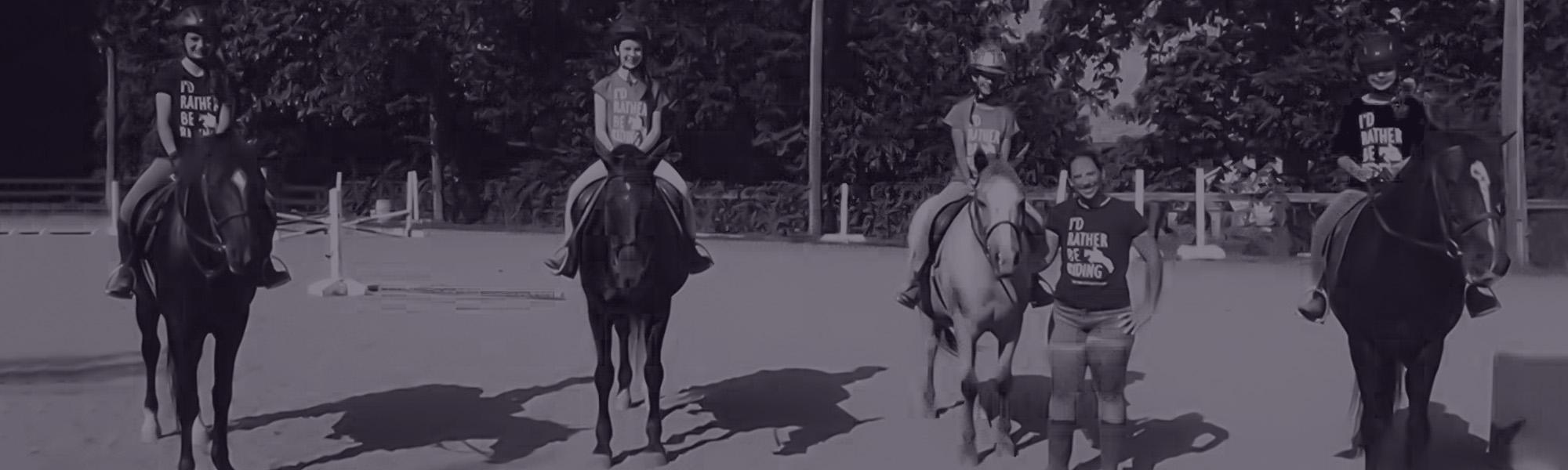 four horses bw